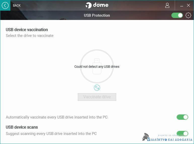 Panda Dome: Προστασία USB