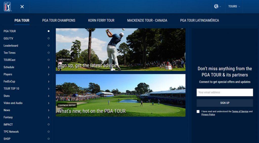 PGA Tour ζωντανή μετάδοση