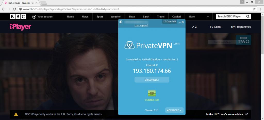 privatevpn bcc iplayer